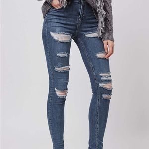 cf6d7408b7a Topshop Jeans - Topshop Moto Super Rip Jamie Skinny Jeans